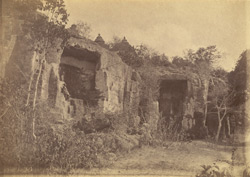 General view of unnamed minor caves (including Lalatendra Kesari Gumpha), Khandgiri Hill